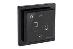 WIFI терморегулятор для теплої підлоги DEVIregTM Smart Чорний