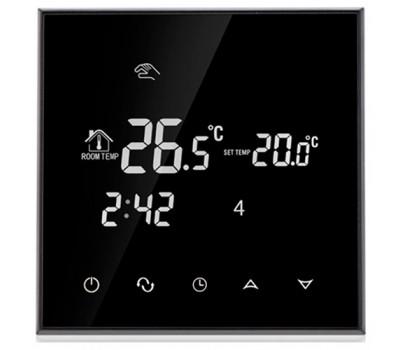 Сенсорний програматор для теплої підлоги EcoTerm SN чорний