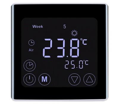 Сенсорный программатор для теплого пола EcoTerm BSN черный
