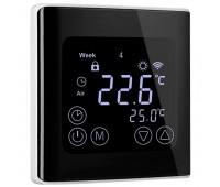 WIFI Сенсорний програматор для теплої підлоги EcoTerm BSN чорний