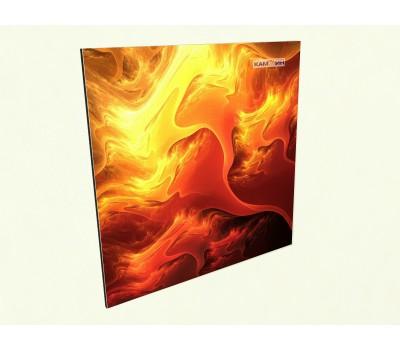 Керамический обогреватель c фото огненный узор