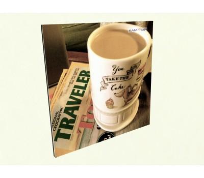 Керамический обогреватель c фото кофе