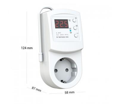 WIFI розеточный терморегулятор для обогревателей terneo rzx
