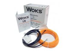 Нагревательный кабель Woks (Украина) 18 Вт/м под плитку, в стяжку