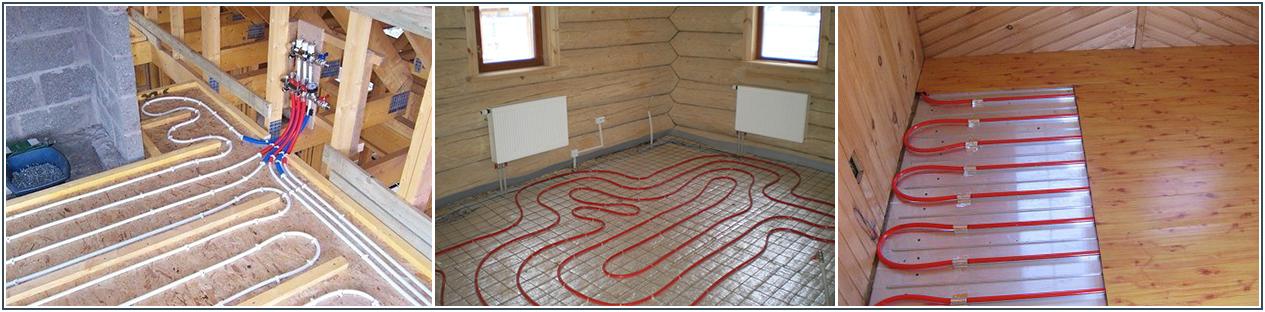Водяной теплый пол в деревянном доме фото